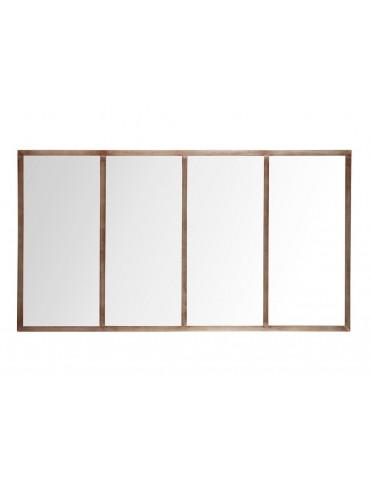 Miroir d'atelier avec 4 sections en métal 75x140cm ATIS Gris/rouille DMI2971004Delamaison