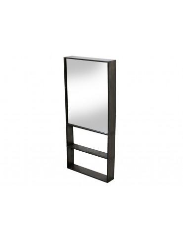 Miroir industriel mural rectangulaire vertical en métal MERIDIAN DMI3965005Red Cartel