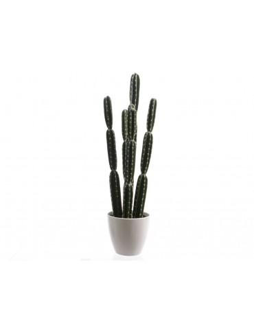 Plante artificielle cactus en pot vert et blanc PLANTS DAA3889054