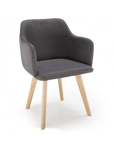 Chaise style scandinave Candy Tissu Gris Foncé lsr1510618grisfonce