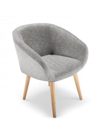 Chaise / Fauteuil style scandinave Frost Gris lsr151469gris