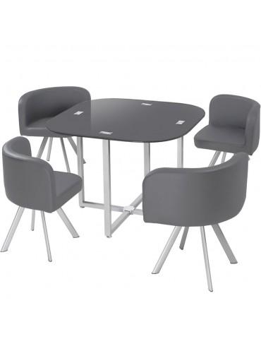 Table et chaises Mosaic 90 Gris p803gris
