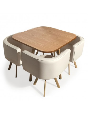 Table et chaises scandinaves Oslo Beige p804beige