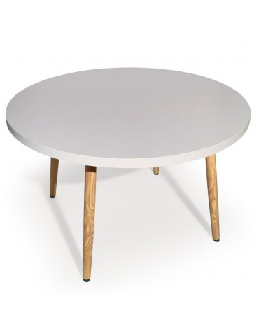 Table ronde scandinave Nora Blanc p805rblanc