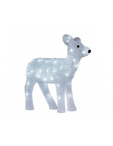 Déco lumineuse LED extérieur blanc en acrylique RENNE JLE3440021Lumineo
