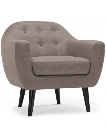 Fauteuil scandinave Fidelio Tissu Taupe hy80411taupe