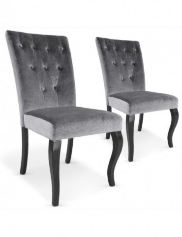 Lot de 2 chaises Beata Gris XYlot2-Gris