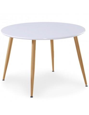 Table scandinave Nina Bois laqué Blanc dt1018bois