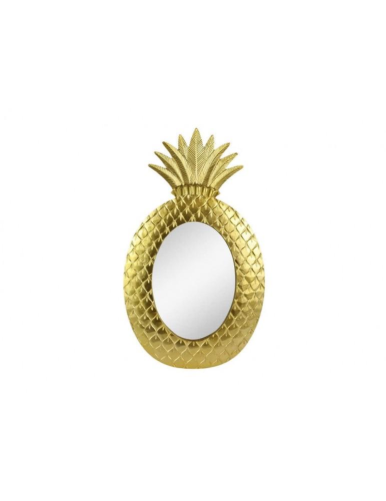 Miroir mural forme ananas en bois MDF et verre H.60cm PINEAPL , DMI3951208Hosho