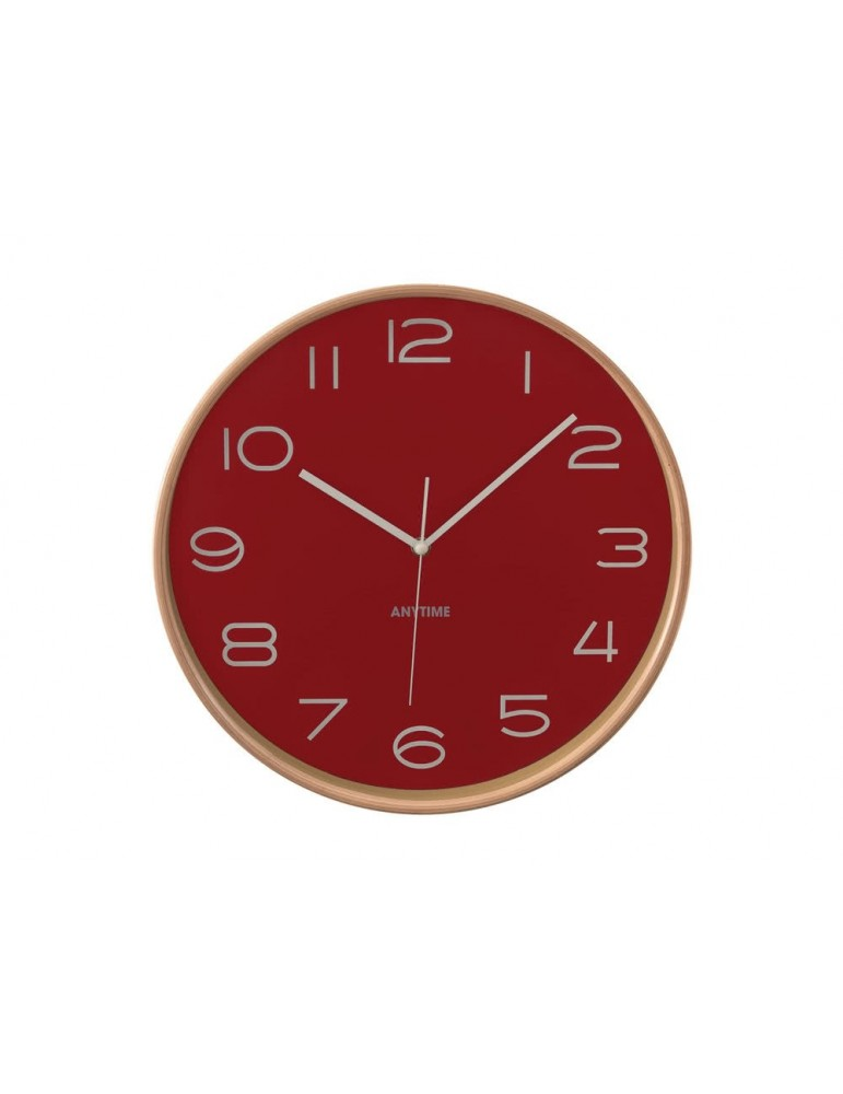 Horloge murale ronde en bois D.32cm TIMING marron DHO3951174Anytime