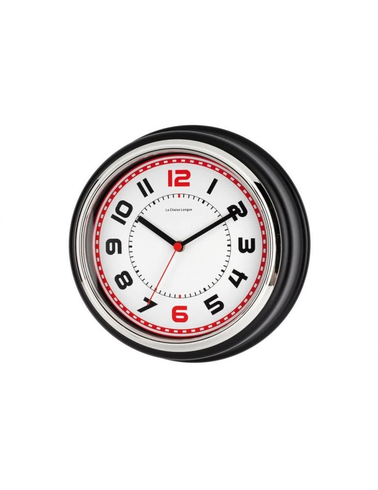 Horloge murale ronde rétro en métal D.30cm BOSTON noir DHO3951147Anytime