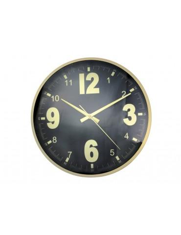 Horloge murale ronde en métal doré D.30.5cm TIMING 50x70cm DHO3951188Anytime