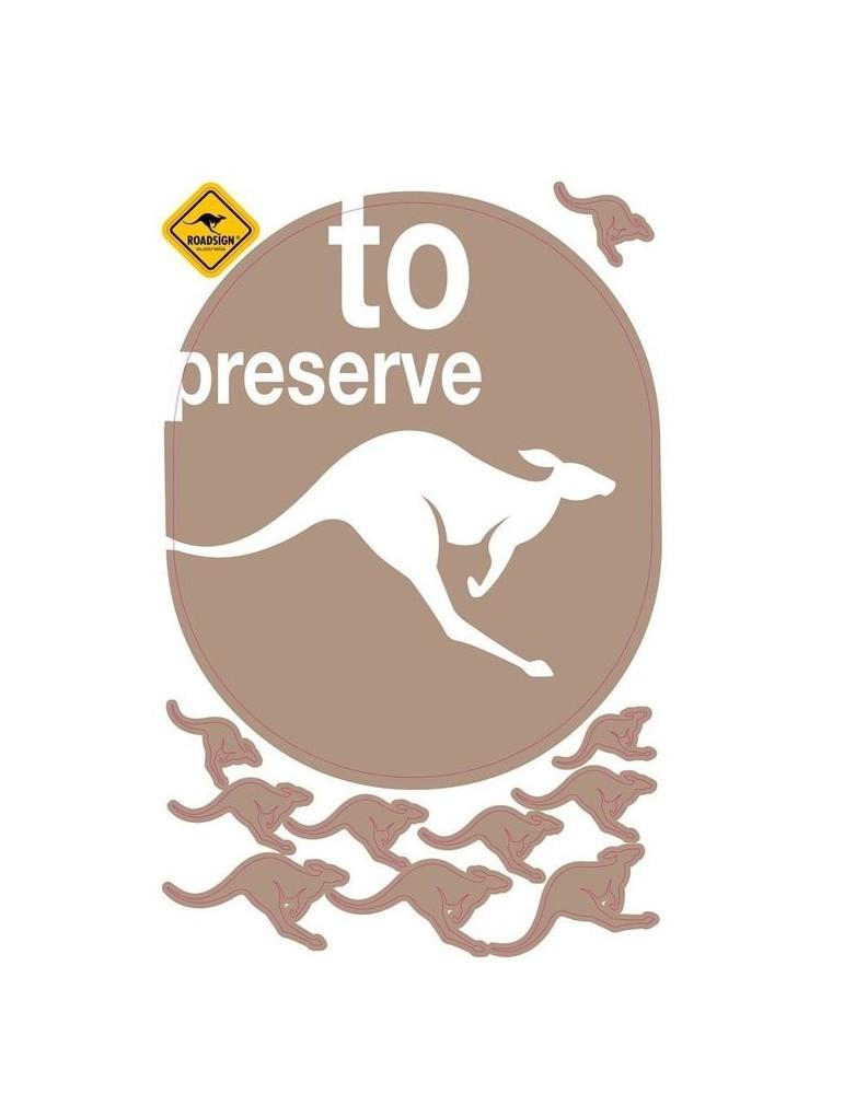 Stickers Kangourou marron 45x70cm ROADSIGN DST1312015MyNoteDeco