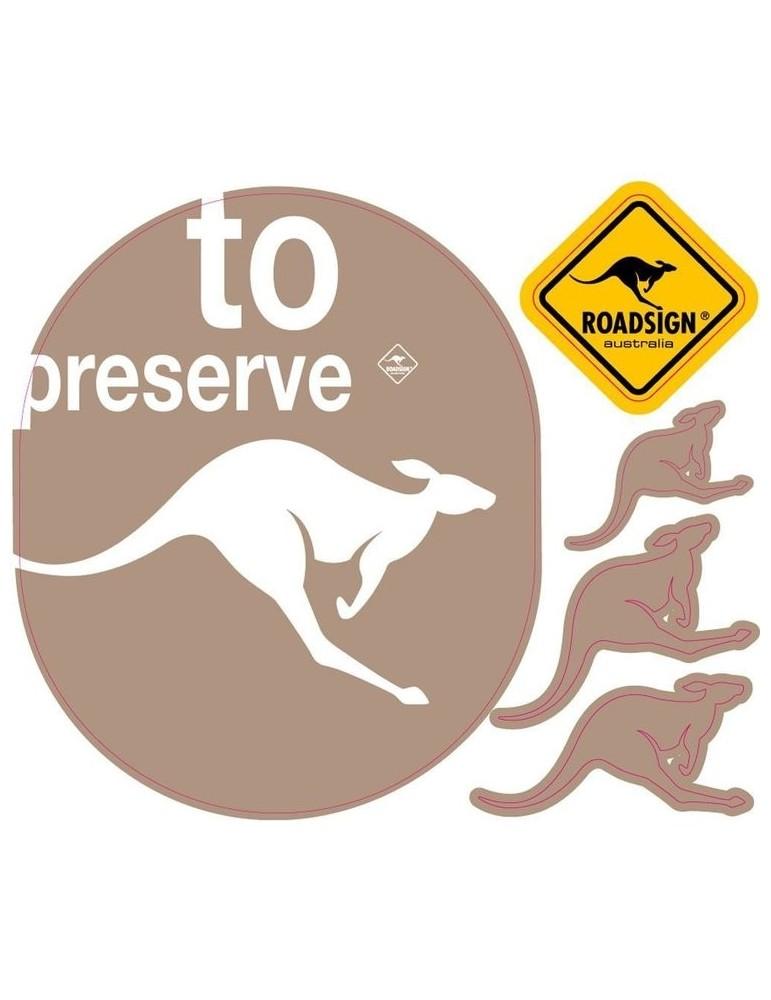 Stickers Kangourou marron 13x15cm ROADSIGN DST1312011MyNoteDeco