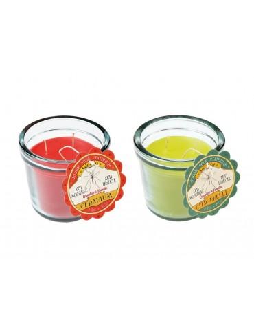 Bougie parfumée rouge citronnelle et géranium (Lot de 2) SOIR D'ETE DEC8448133Comptoir de famille