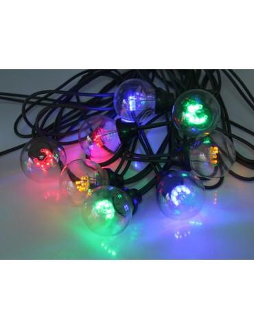 Guirlande LED extérieure guinguette multicolore et vert TRADITION JLE3363044Leblanc illumination