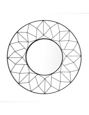 Miroir rosace origami filaire noir DMI4057000Delamaison