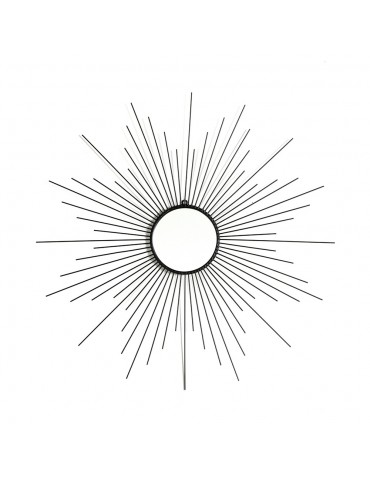 Miroir soleil en métal noir DMI4057001Delamaison
