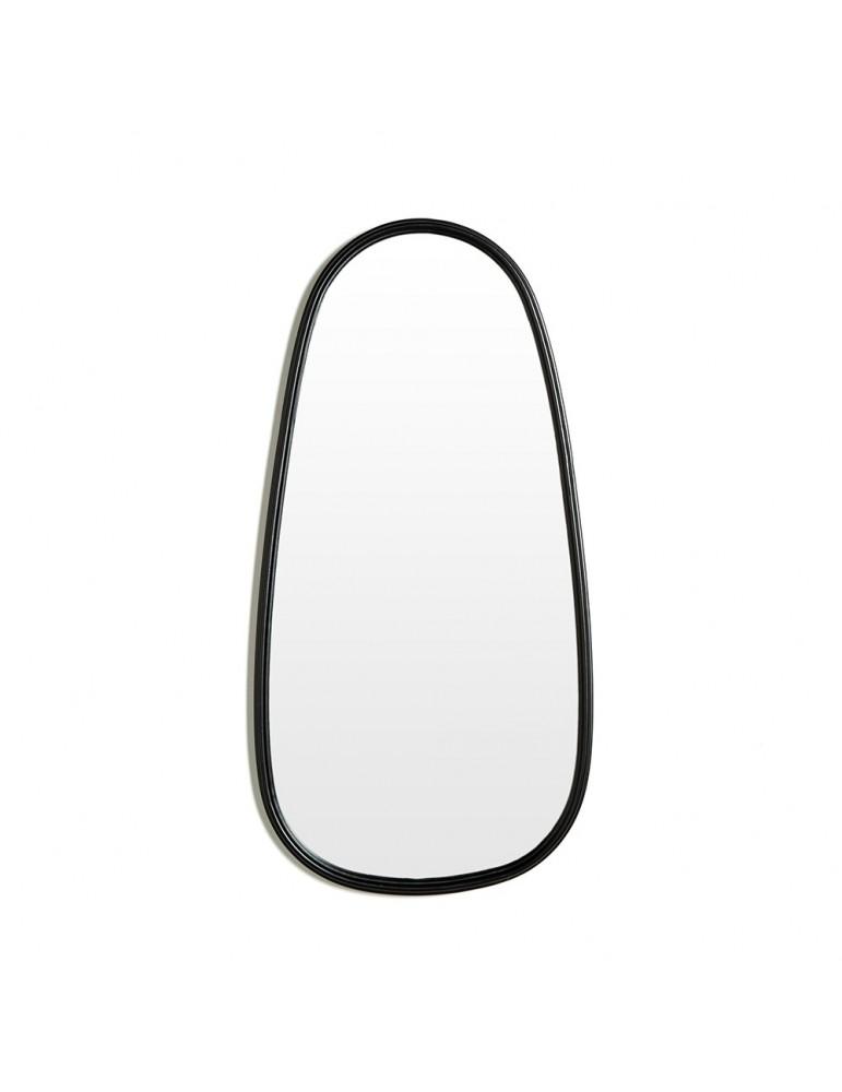 Miroir ovale en métal noir DMI4057003Delamaison