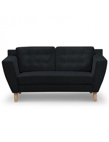 Canapé 2 places Gibus Tissu Noir hm1651220118noir