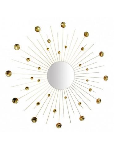 Miroir soleil avec pois doré D.95cm DMI4050000Delamaison