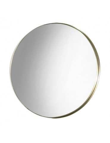 Miroir rond en acier laiton D.47cm DMI4050003Delamaison