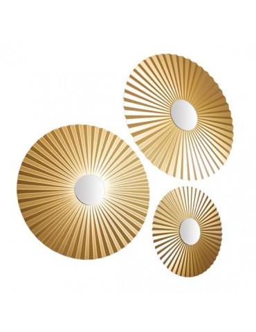 Set de 3 miroirs effet éventail en métal DMI4050007Delamaison