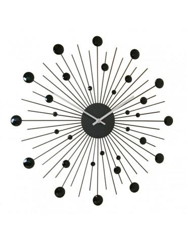 Horloge murale soleil noir D.48cm DHO4050008Delamaison