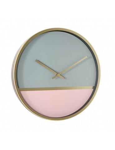 Horloge murale ronde bicolore pastel D.30cm DHO4050013Delamaison