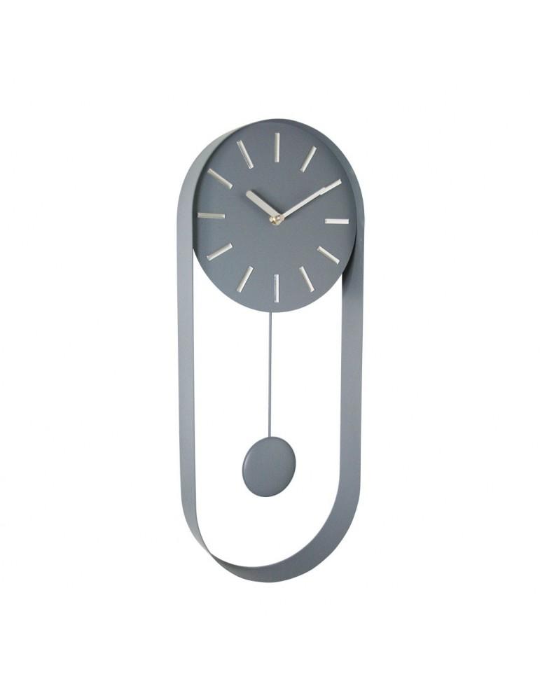 Horloge pendule en métal gris 50x20x4.8cm DHO4050014Delamaison