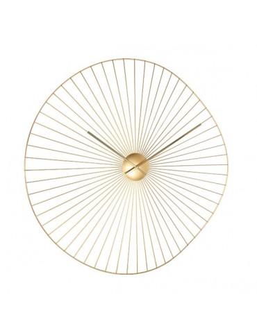 Horloge murale en métal filaire doré forme irrégulière D.80cm DHO4050015Delamaison