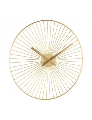 Horloge murale ronde en métal filaire doré D.60cm DHO4050016Delamaison