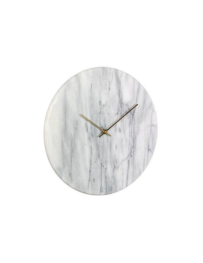 Horloge murale ronde en marbre D.30cm DHO4050018Delamaison