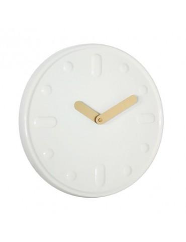 Horloge murale en céramique blanche D.30cm DHO4050021Delamaison