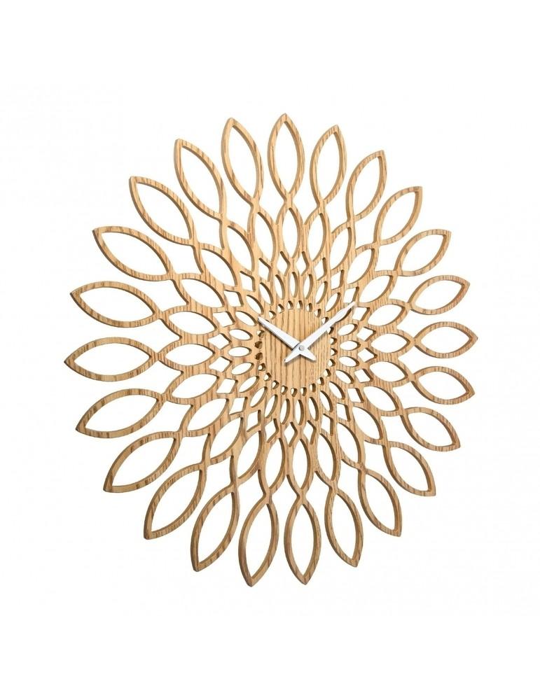 Horloge murale en bois forme fleur D.60cm DHO4050024Delamaison