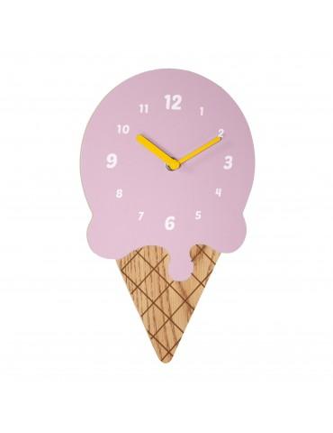 Horloge enfant en bois forme glace 30x19x4cm DHO4050025Delamaison
