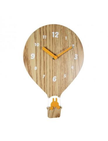 Horloge enfant forme montgolfière en bois 26x18x4.5cm DHO4050026Delamaison