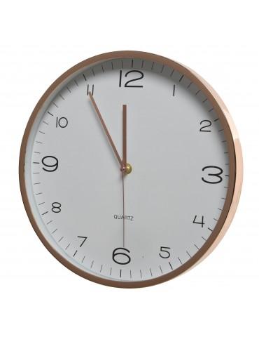Horloge murale ronde finition dorée D.30.5cm DHO4063237Decoris