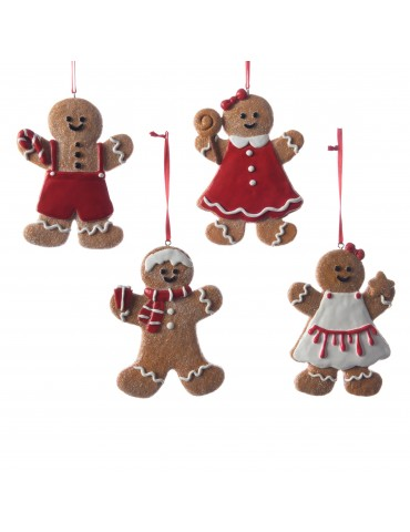 Set de 4 suspensions bonhomme de pain d'épice DEO4063228Decoris