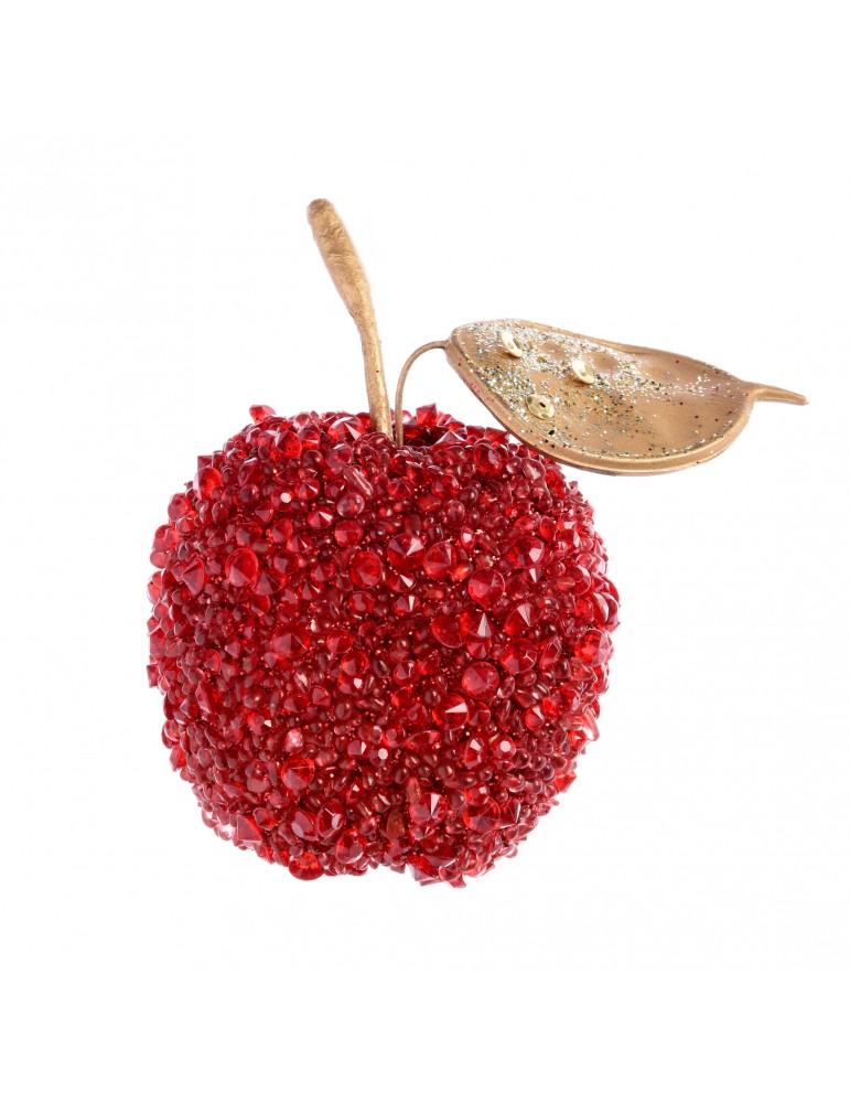Suspension de noël pomme strass rouge DEO4063171Decoris