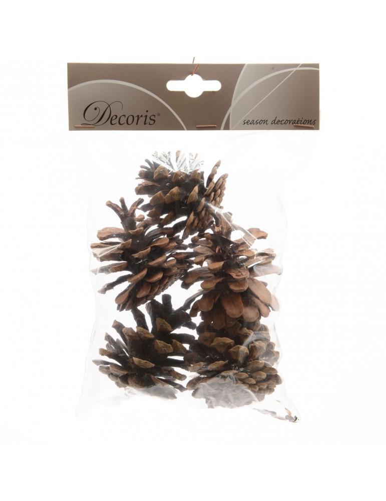 Pomme de pin naturel décoratif (Lot de 5) DEO4063302Decoris