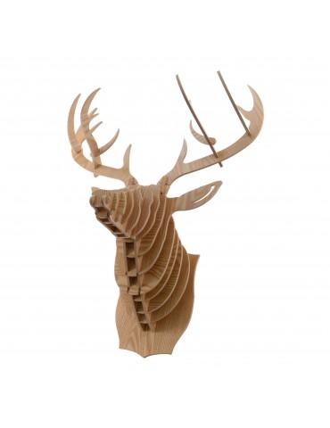 Trophée murale renne en bois à assembler DEO4063240Decoris