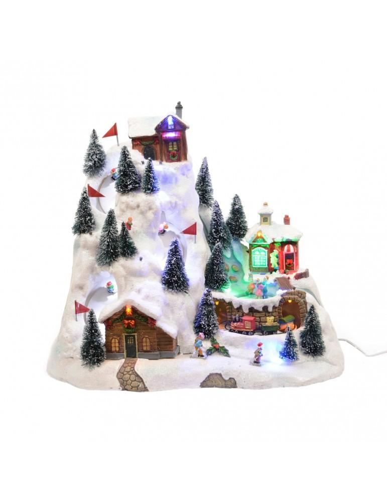 Village de ski lumineux LED DEO4063180Decoris
