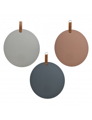 Miroir teinté rond (Lot de 3) DMI4063221Decoris