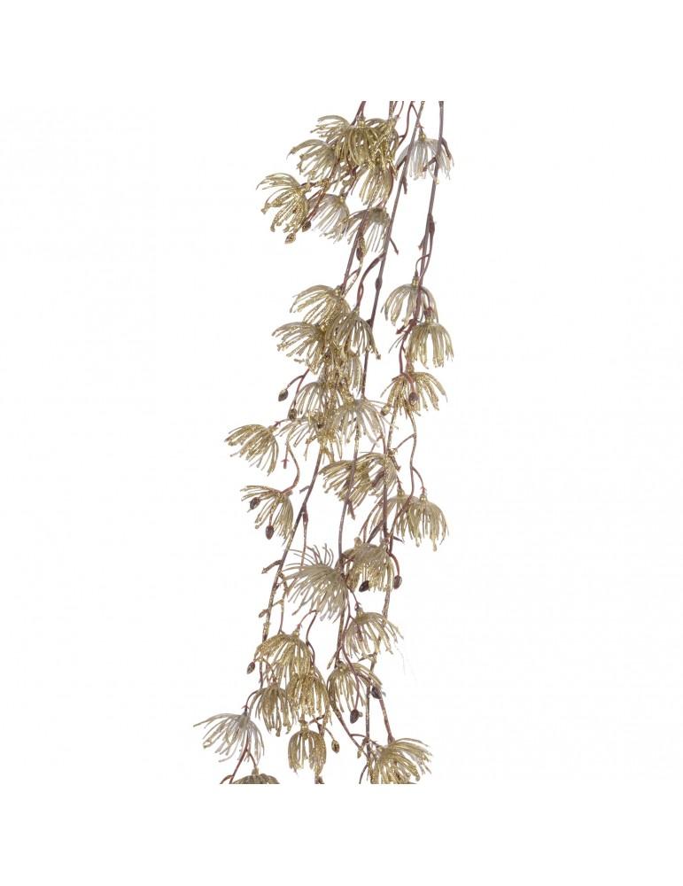 Fleur artificielle pailleté doré et marron DEO4063200Decoris
