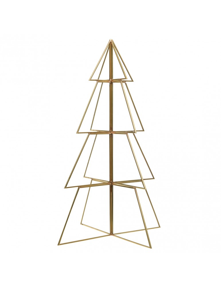 Sapin décoratif à poser en verre et métal cuivré modèle moyen DEO4063278Decoris
