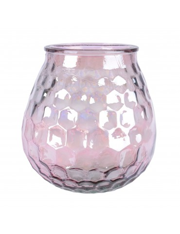 Vase en verre recyclé irisé rose DVA4063503Decoris