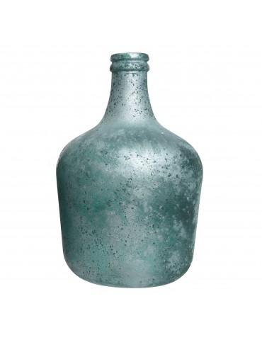Vase en verre recyclé bleu gris effet givré DVA4063501Decoris