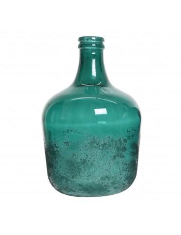 Vase en verre recyclé bleu effet givré DVA4035169Decoris