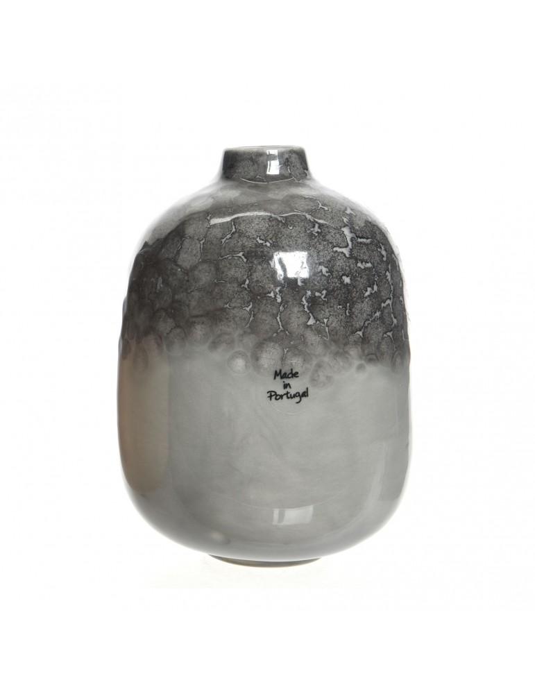 Vase en terre cuite bicolore gris DVA4063512Decoris